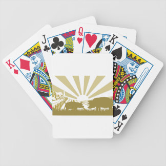Pig farm scene bicycle playing cards