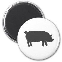 Pig farm silhouette - Choose background color Magnet