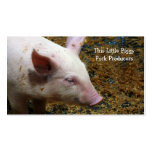 Pig Farmer - Cute Piglet Photograph Double-Sided Standard Business Cards (Pack Of 100)