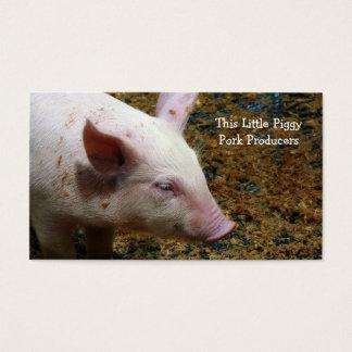 Pig Farmer - Cute Piglet Photograph Business Card
