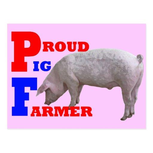 Pig Farmer Post Cards