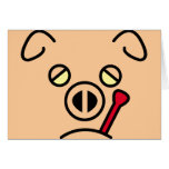 pig fever. greeting card