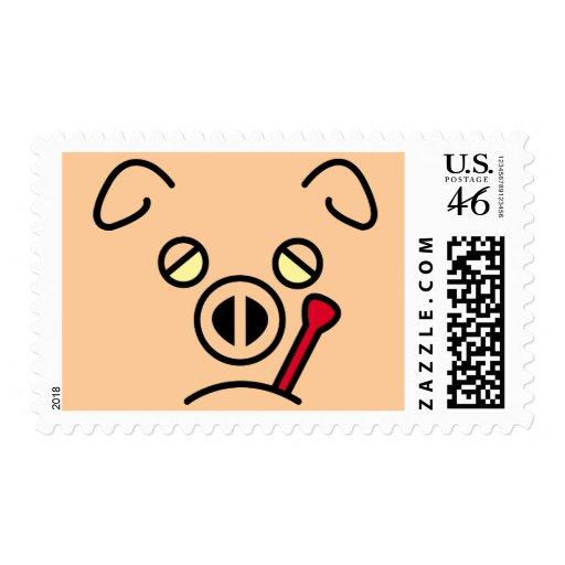 pig fever. postage