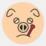 pig fever. round sticker