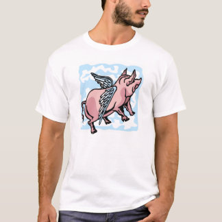 Pig Flying in the Clouds T-Shirt