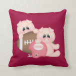 Pig Football Throw Pillow