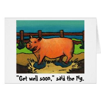 pig get well soon card