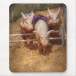 Pig - Getting past hurdles Mouse Pad