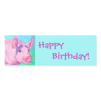 Pig Gift Tag Mini Business Card