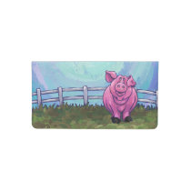 Pig Gifts & Accessories Checkbook Cover