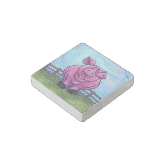 Pig Gifts & Accessories Stone Magnet