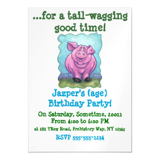 Pig Gifts & Accessories Magnetic Invitations