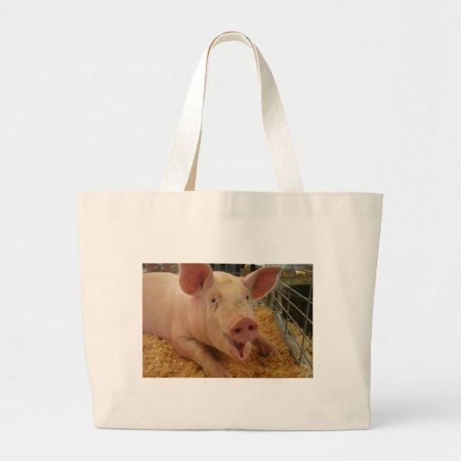 Pig Good Luck Canvas Bag