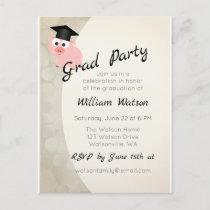 Pig Graduation Party Invitation