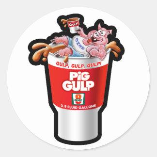 PIG GULP CLASSIC ROUND STICKER