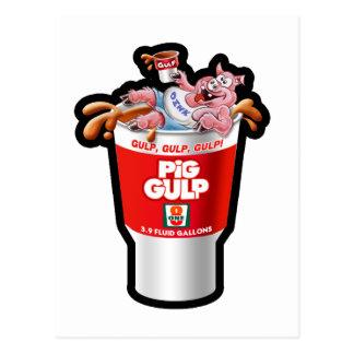 PIG GULP POSTCARD