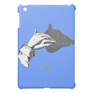 PIG Hand Shadow Art from an Antique Book iPad Mini Cases