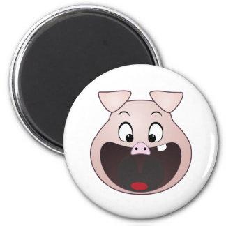 pig head 2 inch round magnet