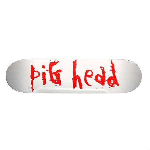 Pig head cutting board skateboard