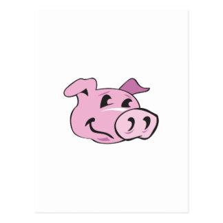 PIG HEAD POSTCARD