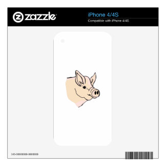 Pig Head Skins For iPhone 4