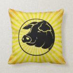 Pig Head; Yellow Pillow
