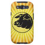 Pig Head; Yellow Samsung Galaxy SIII Case