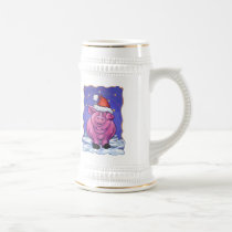 Pig Holiday Beer Stein
