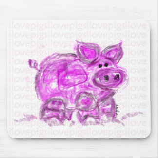pig-i love pigs mousepads