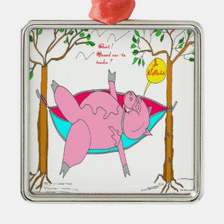 PIG I reflechis.png Metal Ornament