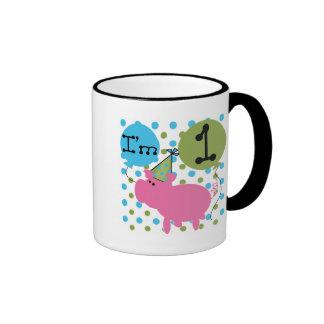 Pig I'm 1 Birthday Tshirts and Gifts Mug