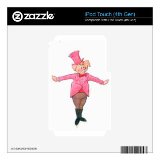 Pig in a Top Hat Skin For iPod Touch 4G