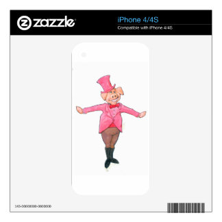 Pig in a Top Hat Skins For The iPhone 4S