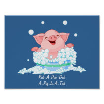 Pig In A Tub Poster