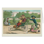 """Pig in a Wheelchair"" Vintage Greeting Cards"