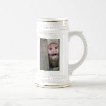 pig in beer stein