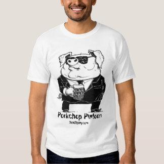 Pig in Black Tee Shirt