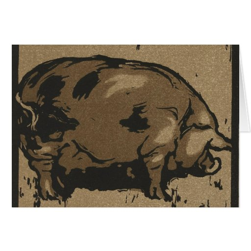Pig in Grass Card
