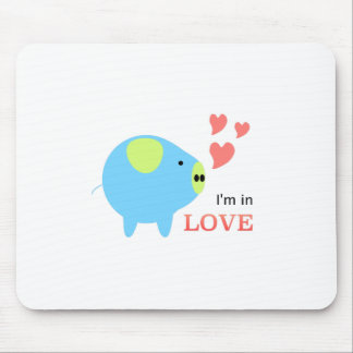 Pig in Love Designed by Chanida Mousepads