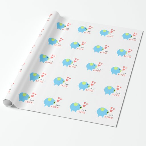 Pig in Love Designed by Chanida Wrapping Paper