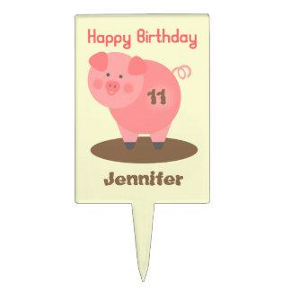 Pig In Mud Birthday Cake Pick