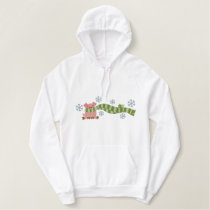 Pig In Scarf Embroidered Hoodie