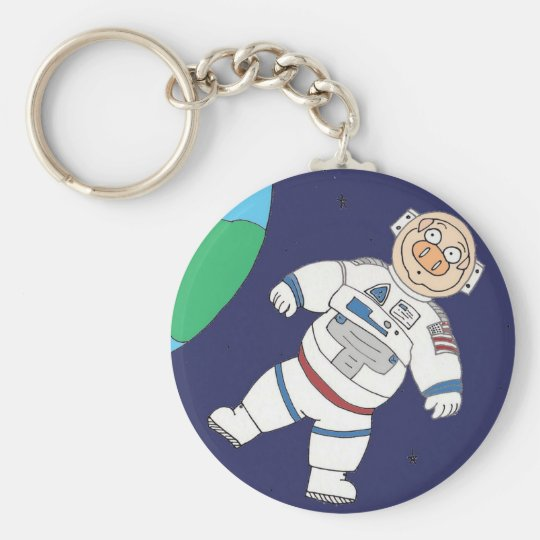 Pig In Space Keychain