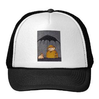 pig in the rain trucker hat