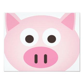 Pig 4.25x5.5 Paper Invitation Card