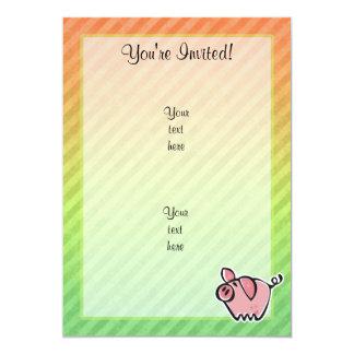 Pig 5x7 Paper Invitation Card