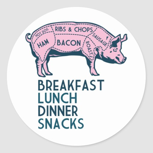 Pig, It's All Good! Classic Round Sticker