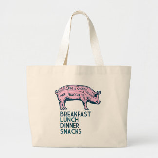 Pig, It's All Good! Large Tote Bag