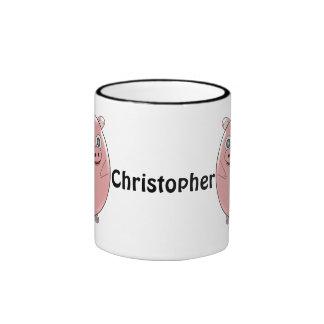 Pig Just Add Name Ringer Coffee Mug
