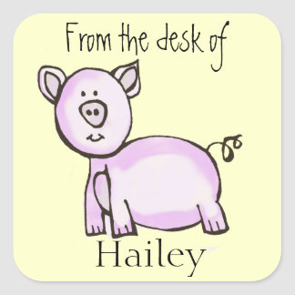 Pig kids stationery sticker